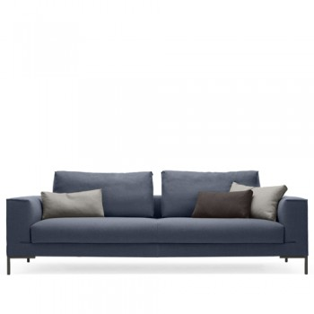 Design on Stock - Aikon Lounge 4-zits - Ploegwool 28 Denim
