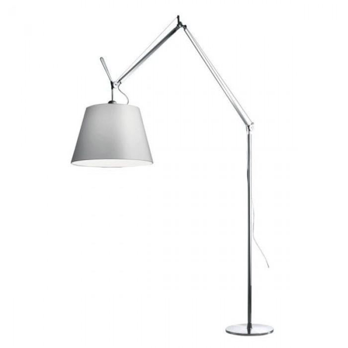 artemide tolomeo mega terra vloerlamp 42 cm grijs satijn. Black Bedroom Furniture Sets. Home Design Ideas