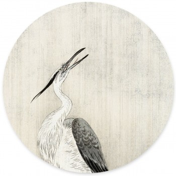 Groovy Magnets - Heron in the rain Magneetsticker