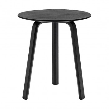 Hay - Bella Coffee Table Ø45 Black Oak