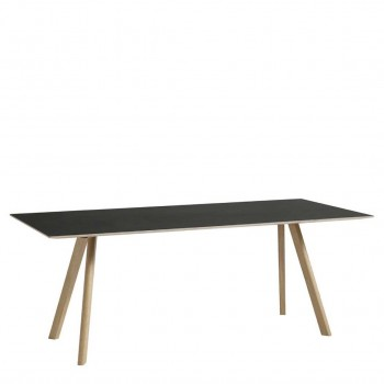 Hay - Copenhague Table CPH30 eetkamertafel - zwart/eiken