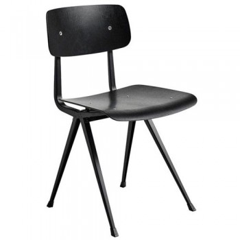 Hay - Result Chair - Black powder coated steel - Black Stained