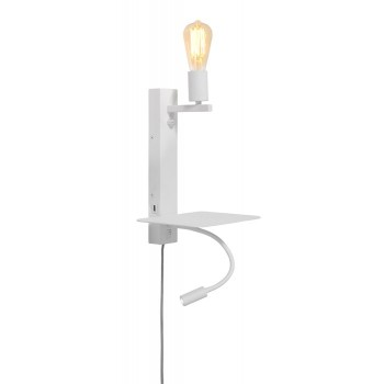 It's About RoMi - Florence wandlamp met plank en USB - Large Wit
