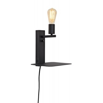 It's About RoMi - Florence wandlamp met plank en USB - Small Zwart