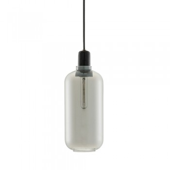 Normann Copenhagen - Amp hanglamp - Large Smoke/Black