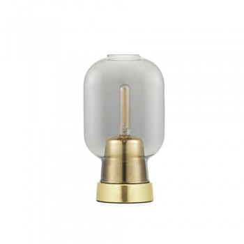 Normann Copenhagen - Amp Tafellamp Smoke/Brass