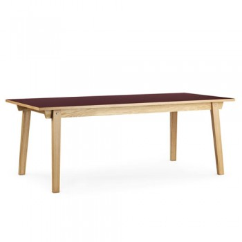 Normann Copenhagen - Slice Table Linoleum 90x200 cm