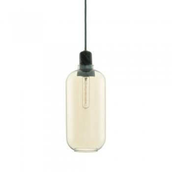 Normann Copenhagen - Amp hanglamp - Large Gold/Green
