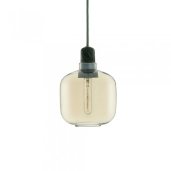 Normann Copenhagen - Amp hanglamp - Small Gold/Green
