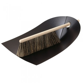 Normann Copenhagen - Dustpan & Broom veger en blik black