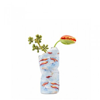 Pepe Heykoop - Paper Vase cover Blue Fish- Small