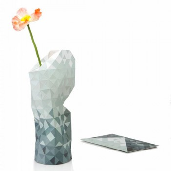 Pepe Heykoop - Paper Vase cover Grey Gradient