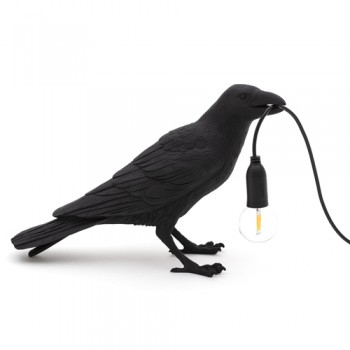 Seletti - Bird lamp Waiting zwart
