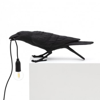 Seletti - Bird lamp Playing zwart