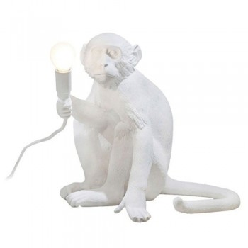 Seletti - Monkey Sit tafellamp wit
